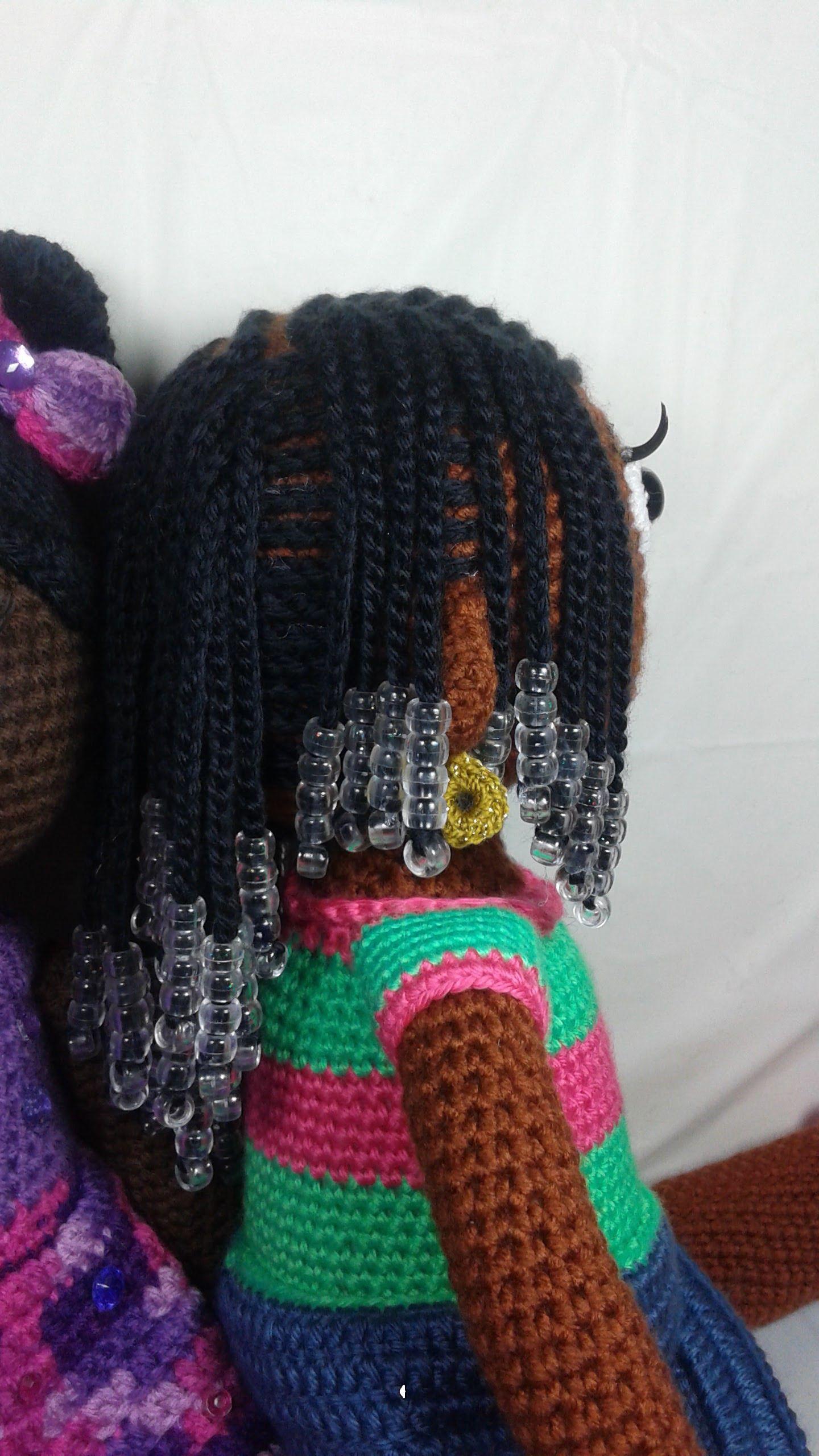 Crochet Cornrows and beads! | Amigurumi | Pinterest | Juguetes