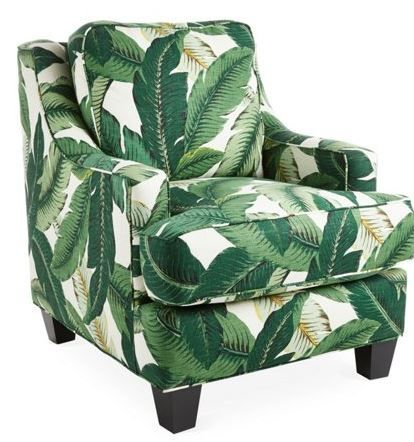 Stupendous Palm Print Chair Im In Love In 2019 Cottage Style Machost Co Dining Chair Design Ideas Machostcouk