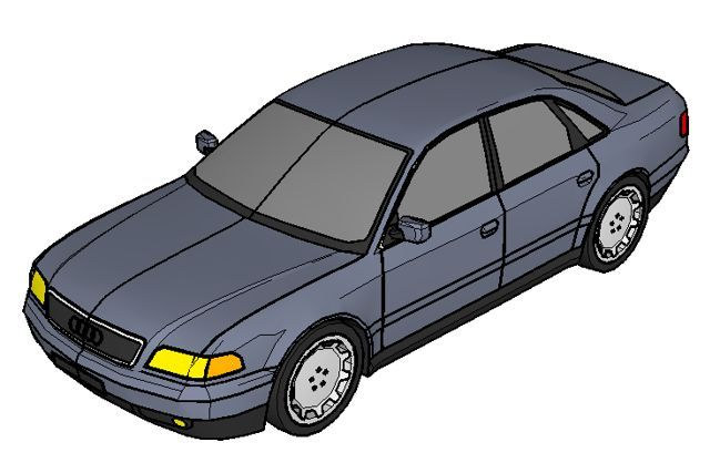 Audi A8 D2 Paper Car Free Vehicle Paper Model Download   Http://www