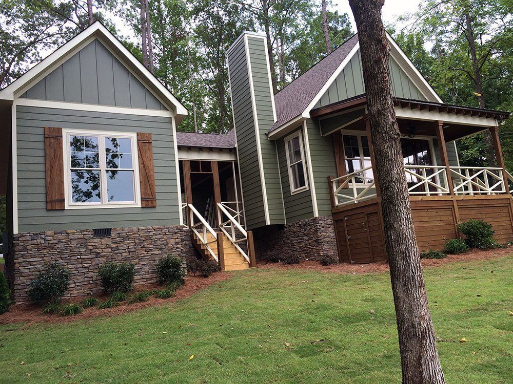 3 Bed Dog Trot House Plan with