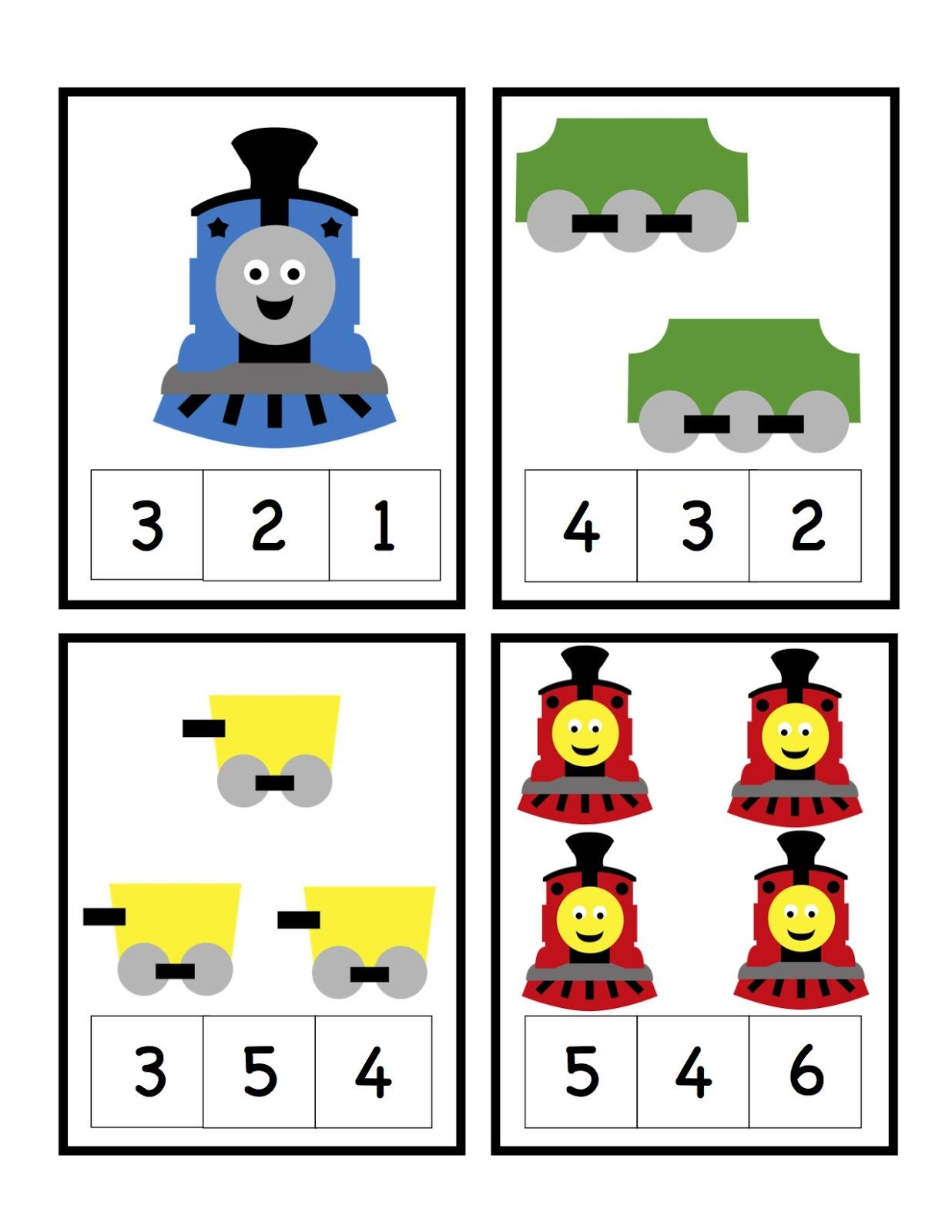 Preschool Printables Train Number Printable