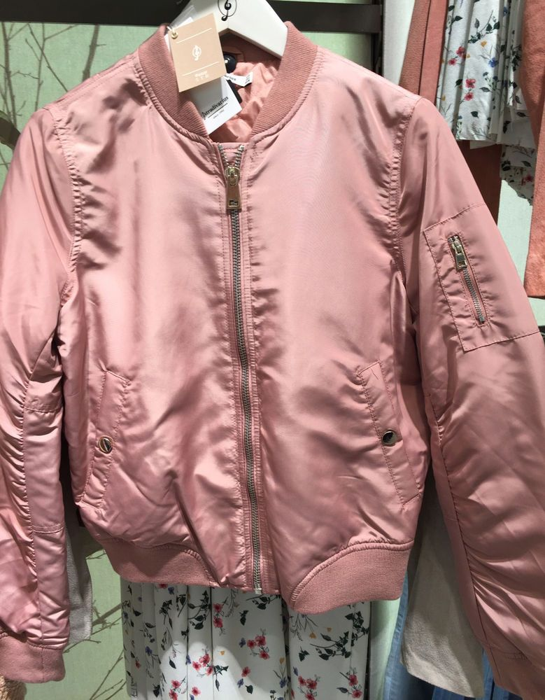 0be262a72e9 Stradivarius Bomber Jacket Pale Pink s M L Zara Group Ref 8099 276