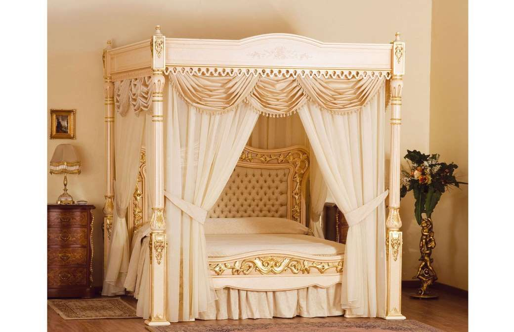 white canopy bed curtain idea mixed with wooden chest also decorative brown table lamp