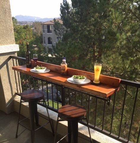 Photo of narrow balcony #narrowbalcony Balcon bar Tops #smallbalconyfurniture Dessus de bar de balcon fait