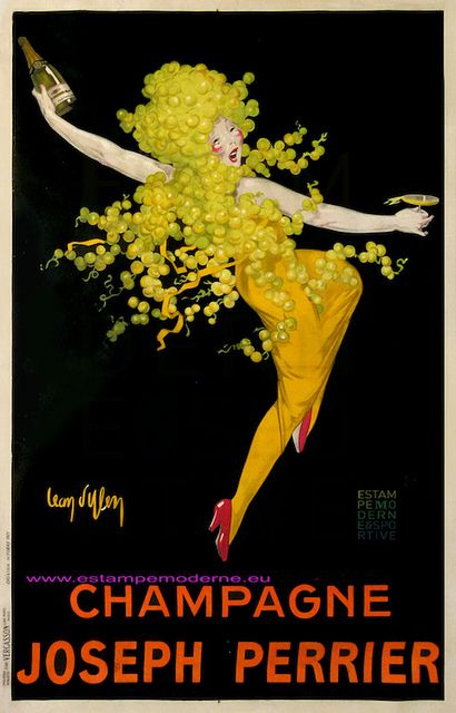 Jean D Ylen Champagne Joseph Perrier 130x199 Vercasson Vintage French Posters Vintage Poster Art Wine Poster