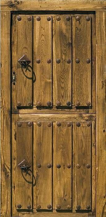 Puerta rustica ambrosia carpinter a puert for Puertas rusticas de madera interior
