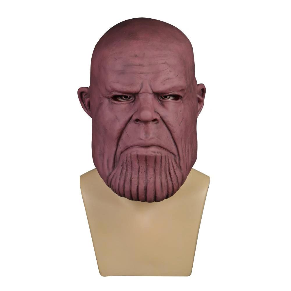 Avengers Infinity War Cosplay Thanos Mask Full Head Soft Pvc Costume Halloween Party Avengers Halloween Costumes Infinity War