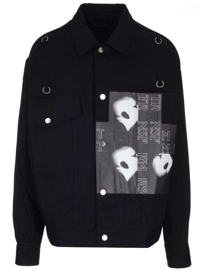 305f68b46e0 RAF SIMONS graphic print denim jacket.  rafsimons  cloth