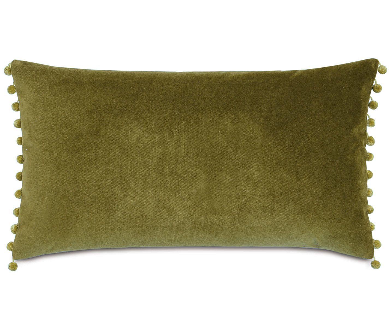 Plush Frou Frou Lumbar Cotton Pillow