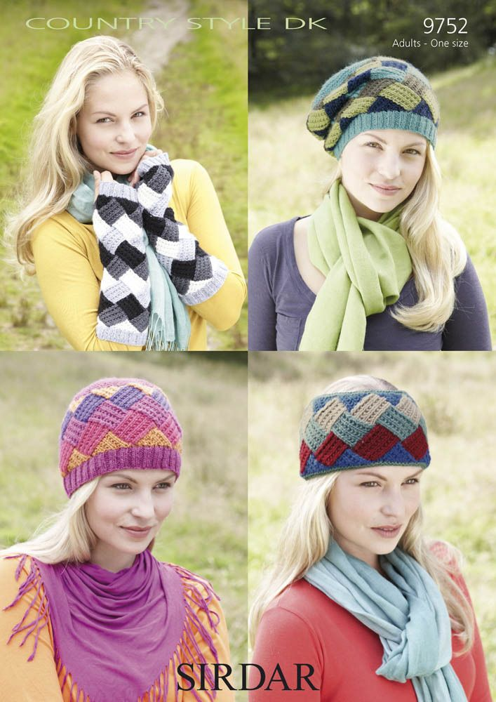 Hats and Mittens in Sirdar Country Style DK - 9752 $4.45