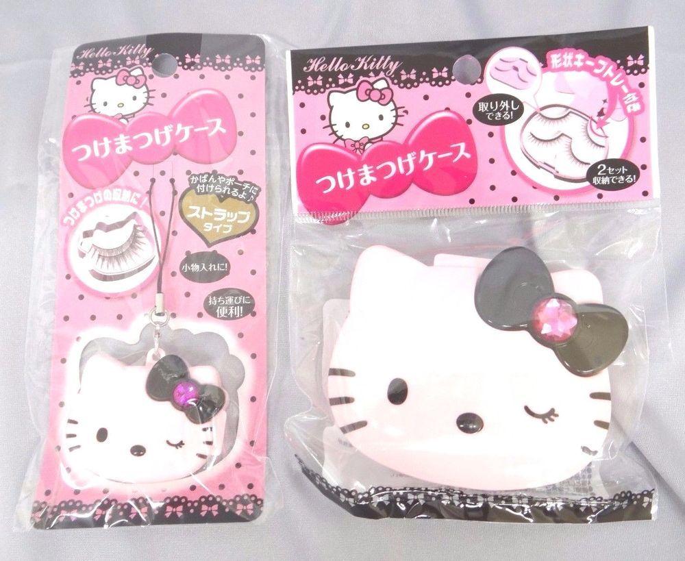 Daiso Japan Eye Makeup Eyelash Case Pink Hello Kitty 2 Pieces Fs