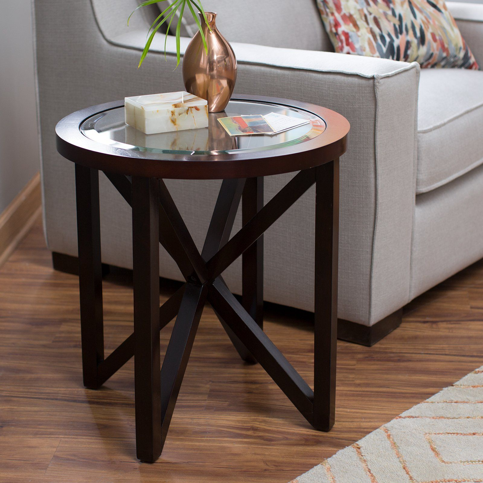 Webster Round End Table End Tables Round End Tables Glass End