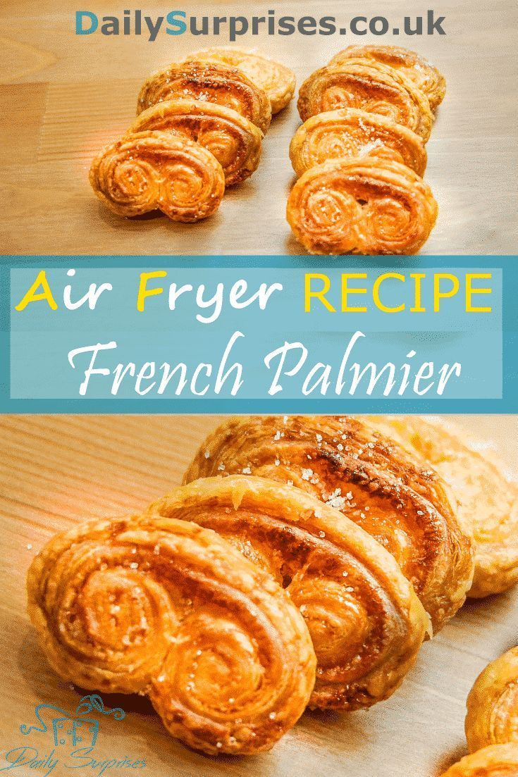 How to make Palmiers (Elephant Ears Cookies) Air Fryer