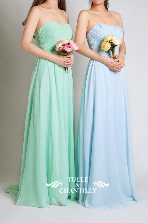 Top 10 new bridesmaid dresses 2015 styles from long for Pastel colored wedding dresses