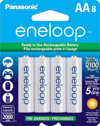 Panasonic Bk 3mcca8ba Eneloop Aa New 2100 Cycle Ni Mh Pre Charged Rechargeable Batteries 8 Pack Panasonic Http Www Rechargeable Batteries Panasonic Recharge