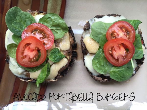 Avocado Portabella Burger! So good and so filling! This is part of the two for one recipe that goes along with the Meaty Egg Cups! Check them out on my site for the recipes! So super simple and two great recipes!