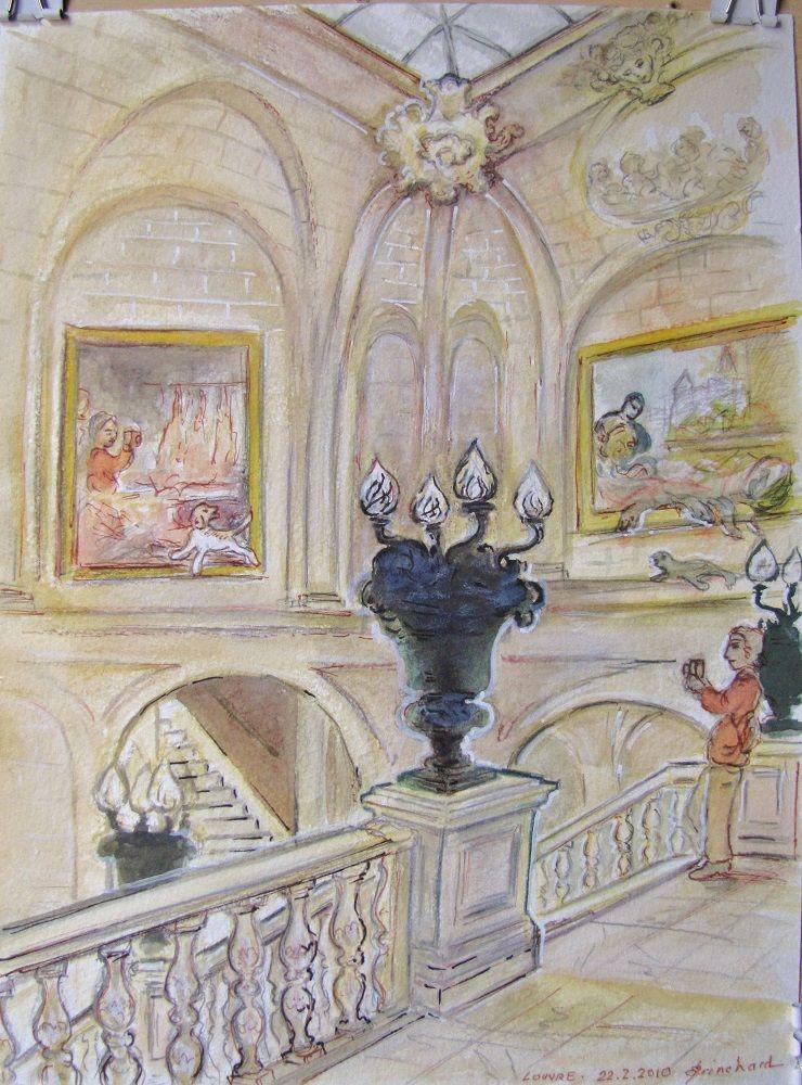 Louvre Aquarelle