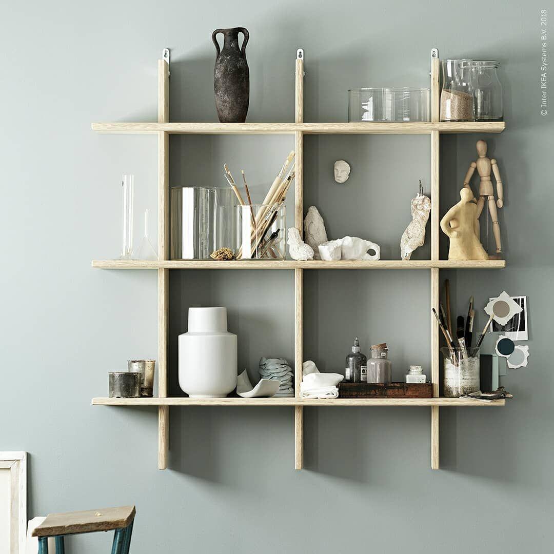 Kreativa verkstaden   Ikea hyllor, Ikea, Idéer för heminredning
