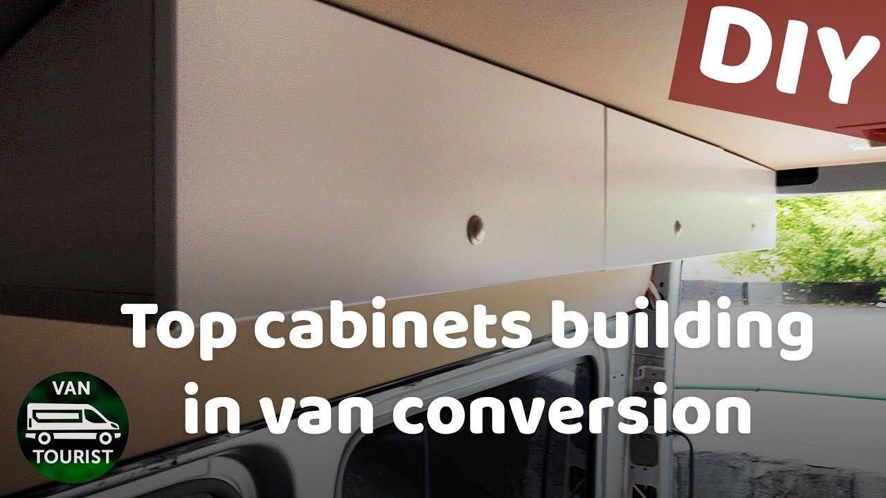 Top cabinets diy building storage for van conversion sprinter do it