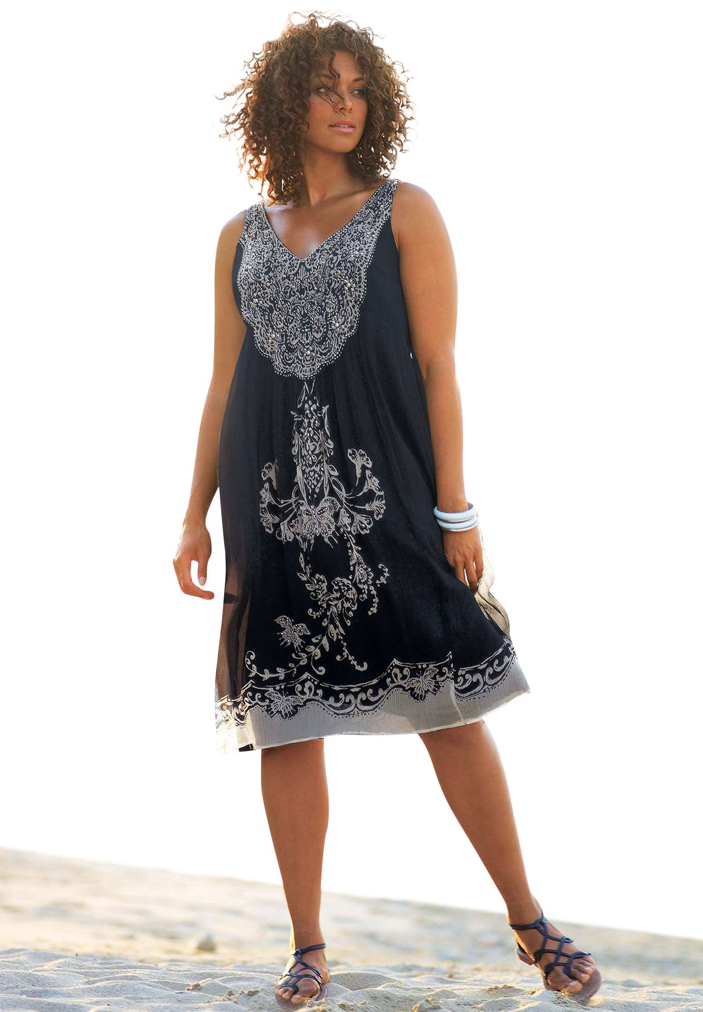 953f86d1fe9 Slightly Crinkled Chiffon A-line Dress by Taillissime®