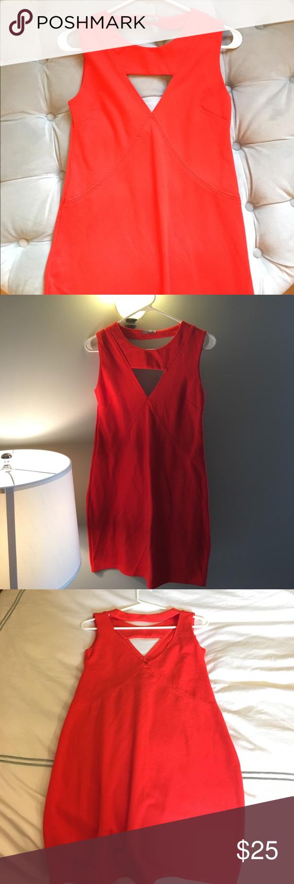 Zara collection red cut out dress euc pinterest