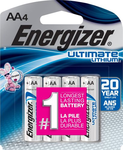 Energizer Ultimate Lithium Aa Batteries 4 Pack L91bp4 Best Buy In 2021 Energizer Battery Energizer Lithium Battery