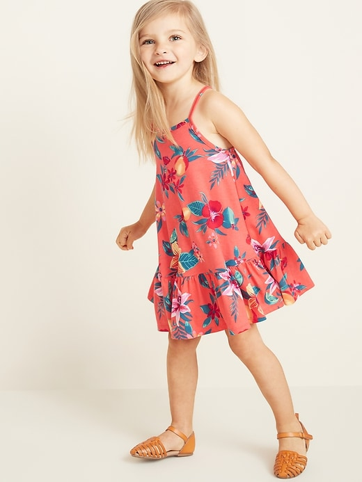 285378be91 Old Navy Toddler Girls' Sleeveless Tiered Swing Dress Coral Overtone  Regular Size 12-18