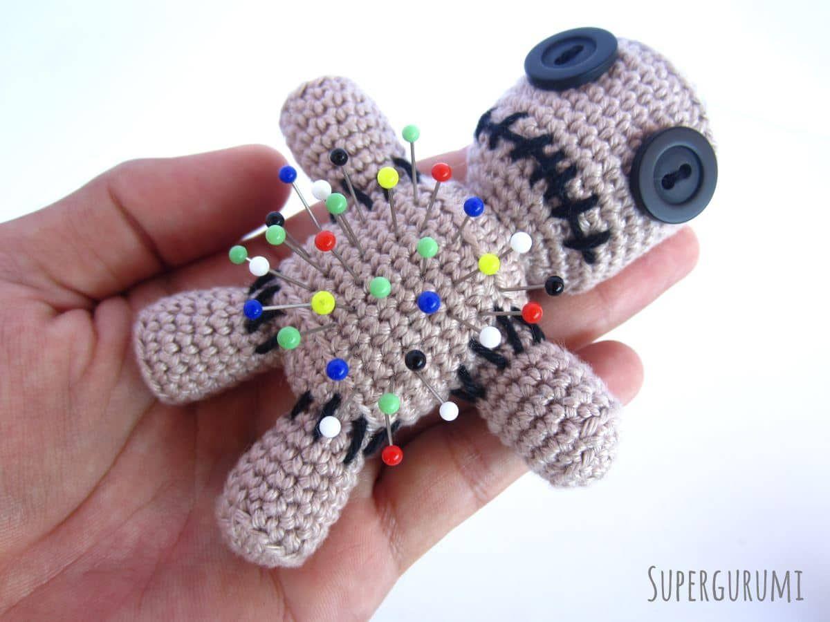 Amigurumi Voodoo Puppe Häkelanleitung Häkeln Croché Ganchillo