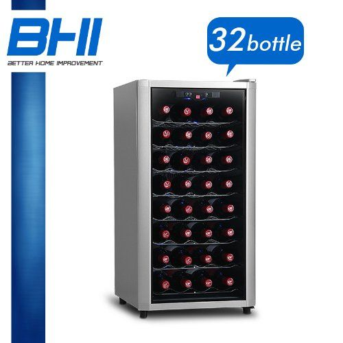 32 BTL Electric Wine Cooler Cellar Chiller Single Zone WNCLAZ2131 ** Click image to review more details.