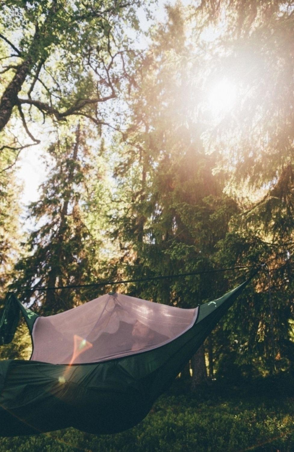 Integrated bug net   Hammock camping, Hammock tent ...