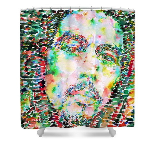 Rasta Paintings Shower Curtains   Bob Marley Watercolor Portrait.3 Shower  Curtain By Fabrizio Cassetta