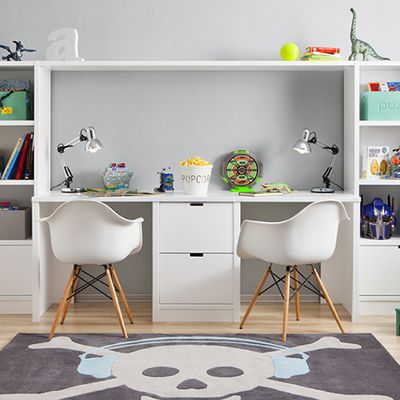 Escritorio juvenil dormitorio ni os escritorio for Decoracion habitacion juvenil nino