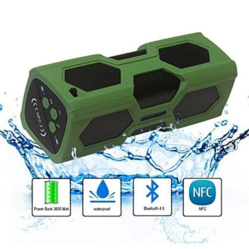 Special Offers - Waterproof Sport Speaker Portable Wireless Stereo Bluetooth Speaker with 3600mAh Power CSR4.0 IPX56 NFC for Outdoor Adventure Beach Shower Compatible with All Bluetooth Android and iOS Devices - In stock & Free Shipping. You can save more money! Check It (August 12 2016 at 07:37PM)…