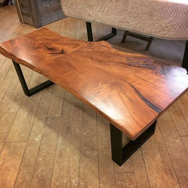 We Recently Completed This Custom Coffee Table Made From Live Edge