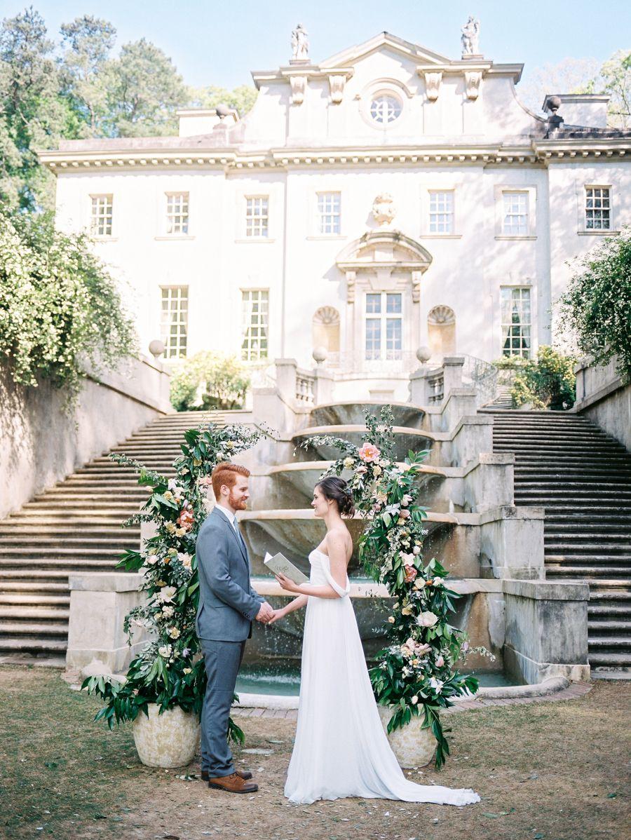 intimate wedding packages atlantga%0A Elegant Swan House Wedding Inspiration  Fairytale WeddingsGarden  WeddingsRomantic