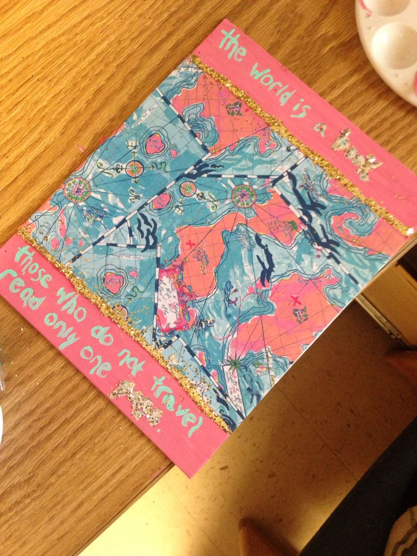Lilly Pulitzer travel canvas