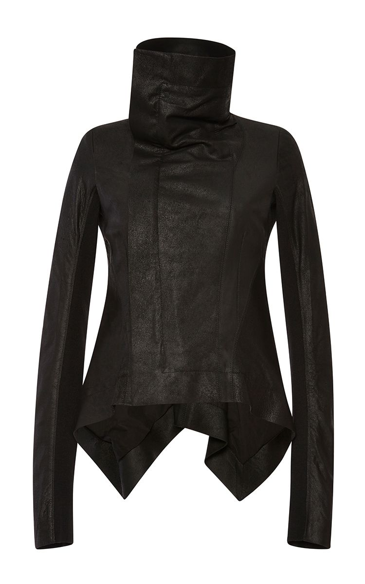 Naska Blister Leather Biker Jacket by Rick Owens Now Available on Moda Operandi