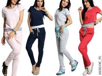 Dresy Damskie Kobiece Komplet Dresowy Kolory 515 6141814254 Oficjalne Archiwum Allegro Fashion Two Piece Pant Set Two Piece