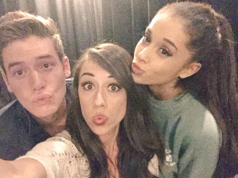 Ariana Grande and Coleen Ballinger and Cory   Ariana Grande ...