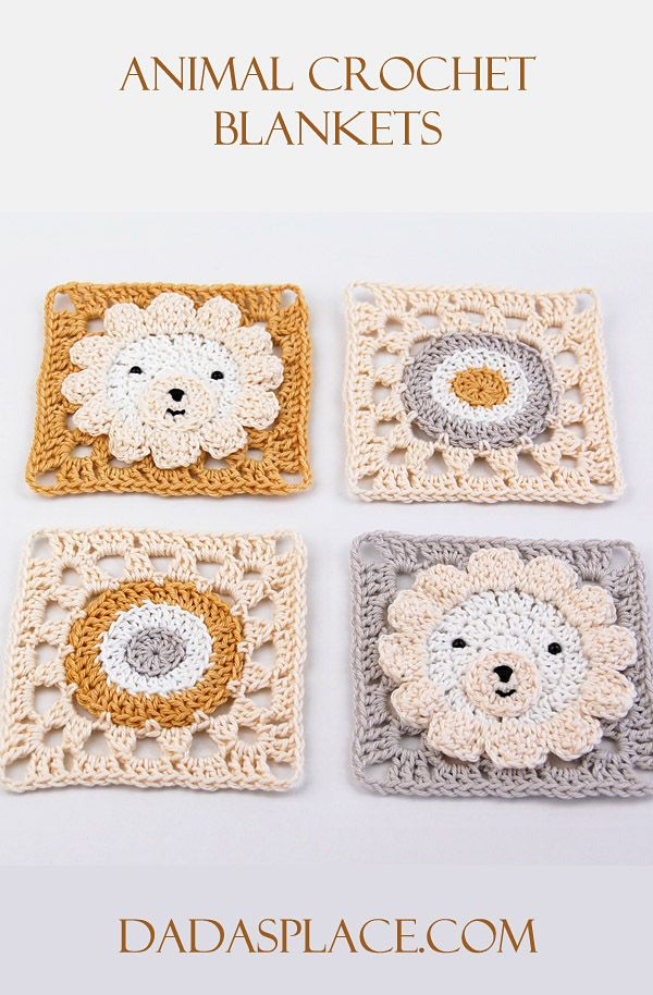 Animal Crochet Blankets by Dada's place
