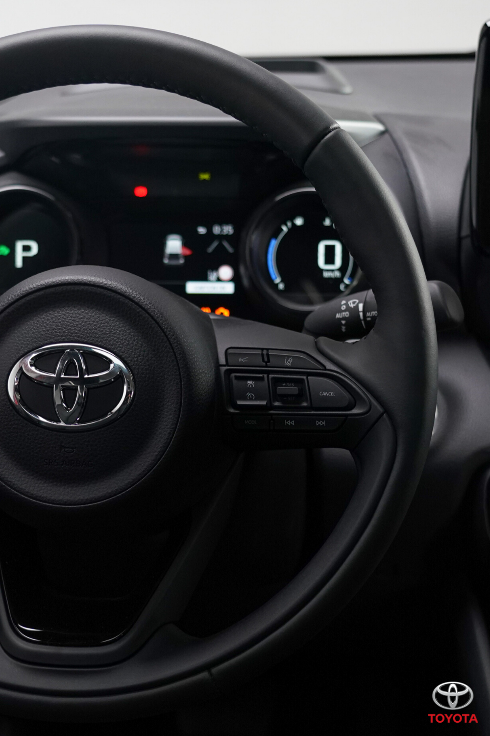 Click to take a closer look behind the wheel of the all-new Toyota Yaris. #Toyota #ToyotaYaris #SmallCar #CompactCar #CityLiving #HybridCar
