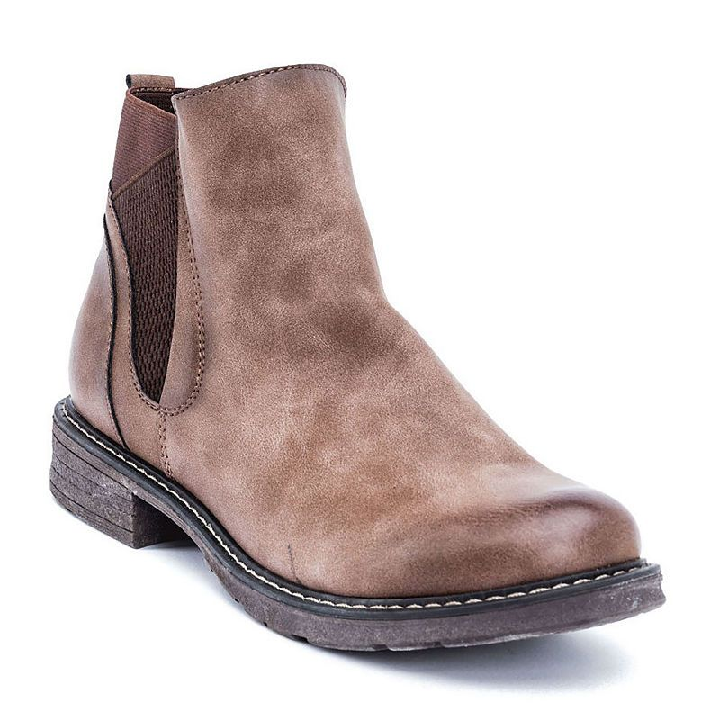 aa0da53744a1 GC Shoes Womens Evan Chukka Boots Flat Heel Pull-on Flat Boots