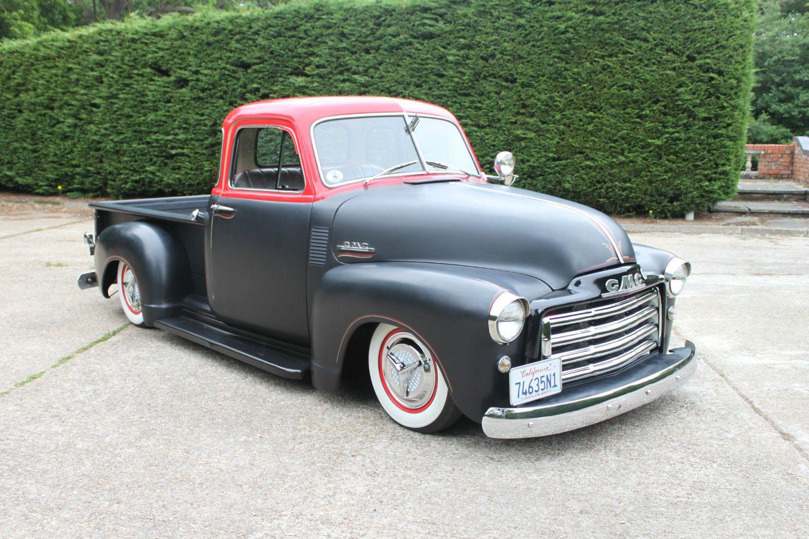 1951 gmc chevy 5 window stepside pickup 3100 half ton for 1951 gmc 5 window pickup