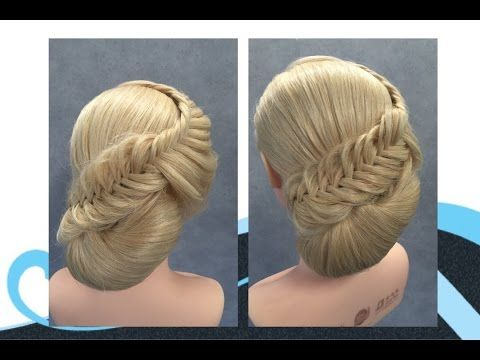 Opsteken En Visgraat Vlecht Updo With Fishtail Braid Youtube Hair Up Styles Competition Hair Braided Hairstyles