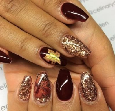 46 trendy nails fall short coffin  short coffin nails