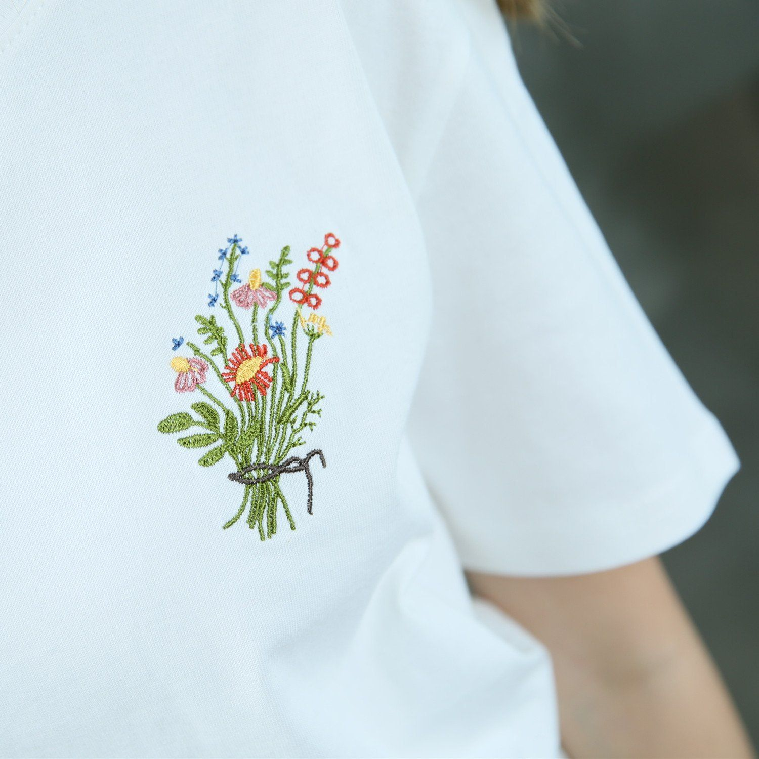 c2e60e831d6ae Wild flowers t-shirt | Aesthetic T-Shirts | Embroidery flowers ...