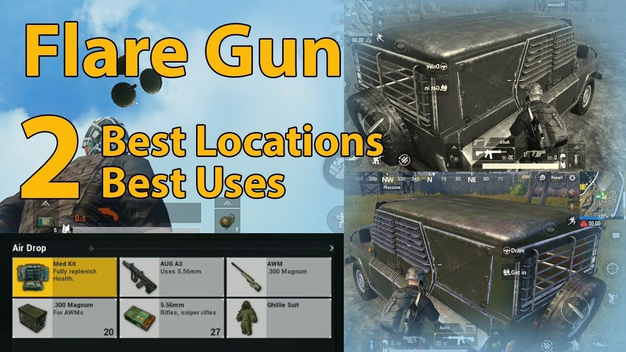Player Unknown Battlegrounds Pubg Mobile Best Locations For Flare