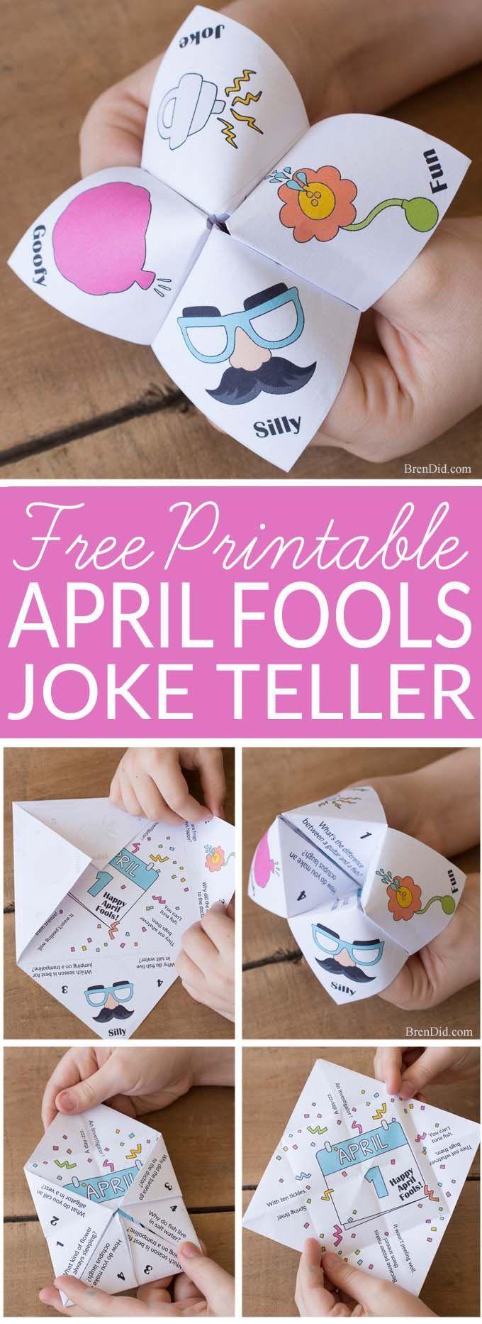 April Fools Jokes For Kids Mixed Up Joke Teller Prank Bren Did April Fools Joke Pranks For Kids April Crafts