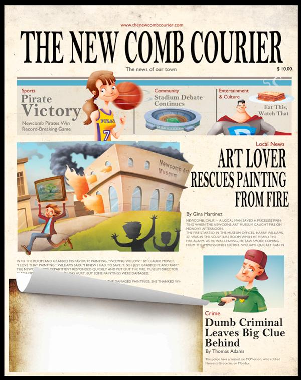 newspaper!! on Behance Newspaper template, Letter