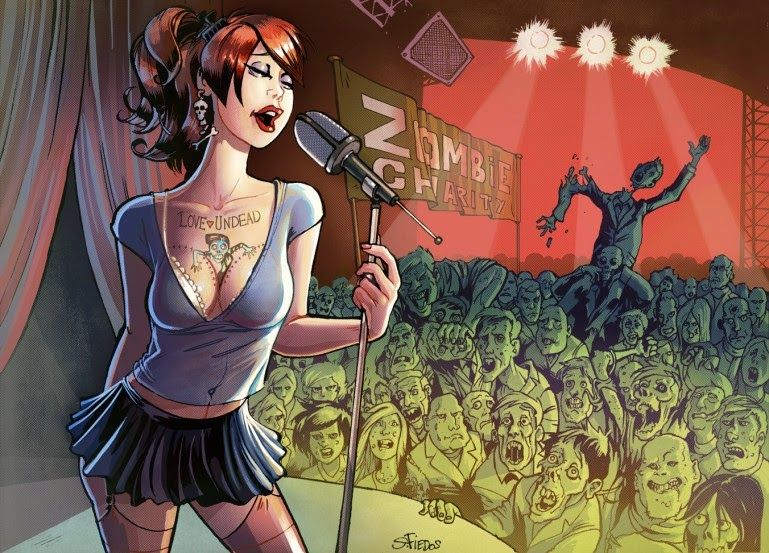 This girl sings for Zombies by serge-fiedos on DeviantArt